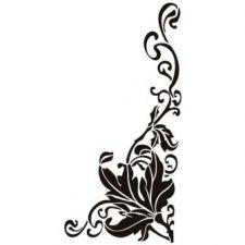 Трафарет Растительный орнамент уголок