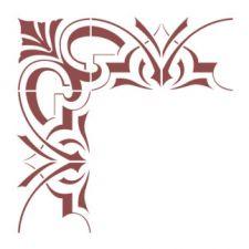 Трафарет Угол в античном стиле 2