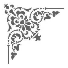 Трафарет Угол для декора классика