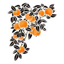 Трафарет Угол для декора Апельсиновый рай