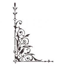 Трафарет Угол для декора классика 4