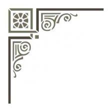 Трафарет Угол геометрический 5