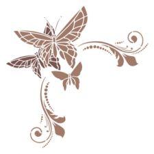 Трафарет Угол с бабочками