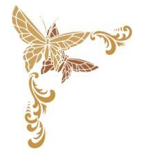 Трафарет Угол с бабочками 2