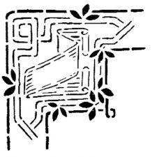 Трафарет Угол 2-2520