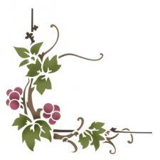 Трафарет Уголок виноградный