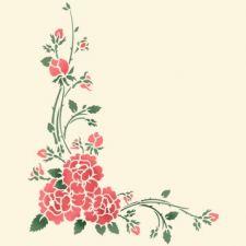Трафарет Угол цветочный 5