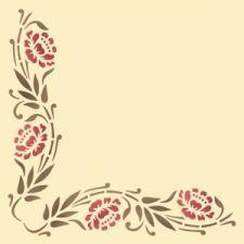 Трафарет Угол цветочно-растительный